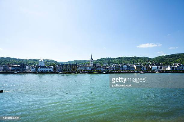 Rhine and Boppard at summer