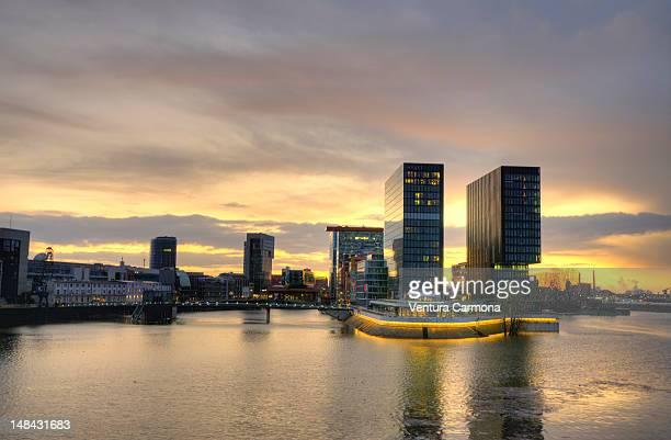 Rhine bridge and Media harbor