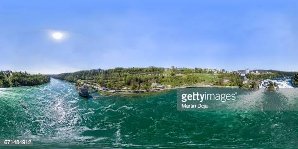 Rhine Falls 360° Aerial Spherical HDR Panorama
