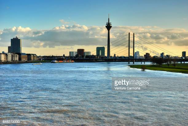 Rhine River at Düsseldorf