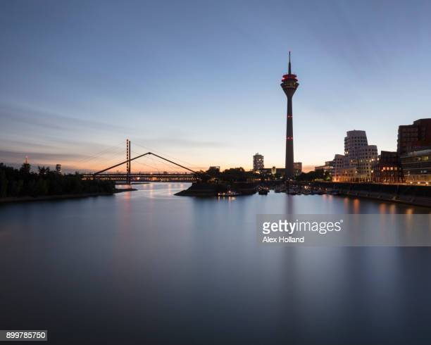 Rhine Tower, Oberkasseler Bridge, D_sseldorf, Germany