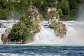 Rhinefall (Rhine waterfall) at Laufen