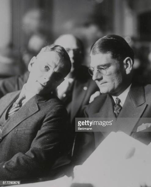 Rhinelander in Court New York Photo shows Leonard Kip Rhinelander the scion of a millionaire family as he appears in court with his counsel He is...