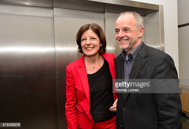 Rhineland-Palatinate Governor Malu Dreyer and lead candidate for the German Social Democrats in Rhineland-Palatinate state elections and her husband...