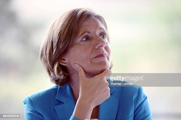 RhinelandPalatinate Governor Malu Dreyer pictured at the St Martin senior care facility on August 19 2015 in Bingen am Rhein Germany She visits the...