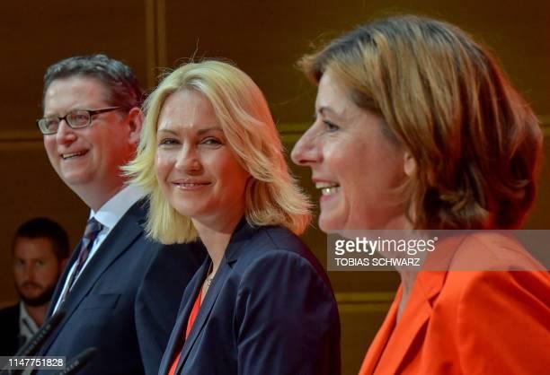 Rhineland-Palatinate's State Premier and deputy leader of the Social Democratic Party Malu Dreyer , premier of Mecklenburg Vorpommern Manuela...