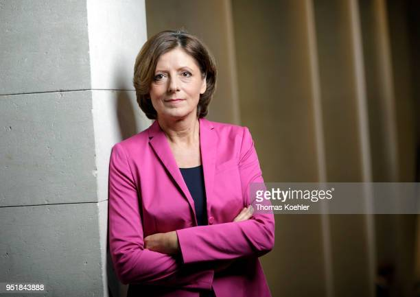 RhinelandPalatinate's State Premier Malu Dreyer poses for a photo at the Bundesrat on April 27 2018 in Berlin Germany