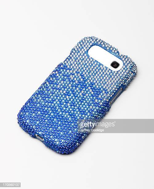 rhinestone smart phone case - phone cover stock pictures, royalty-free photos & images