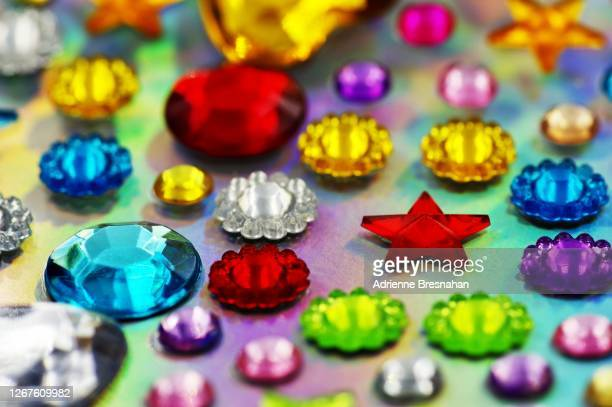 rhinestone stickers - embellishment stock pictures, royalty-free photos & images