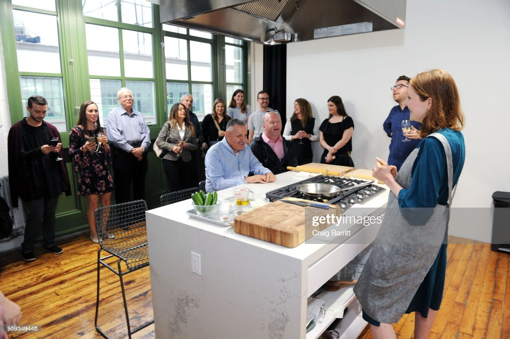 Rhoda Boone (R) attends the AD, Bon Appetit and Delta Faucet toast of the Conde Nast Kitchen Studio on May 16, 2018 in New York City.