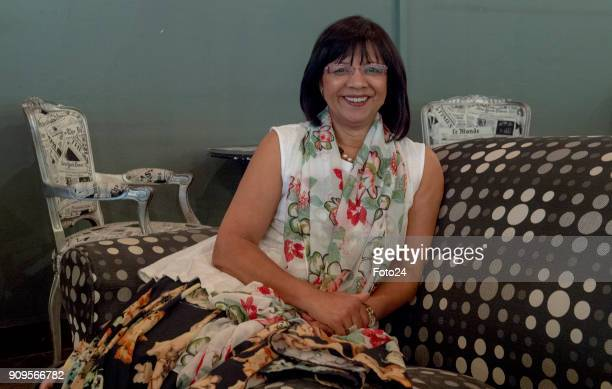 Rhoda Kadalie poses for a portrait during an interview about going on retirement on January 16 2018 at the Baxter Theatre in Cape Town South Africa...