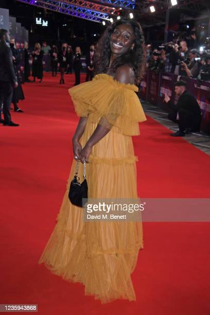 """Rhoda Ofori-Attah attends the European Premiere of """"The Tragedy Of Macbeth"""" during the 65th BFI London Film Festival at the The Royal Festival Hall..."""