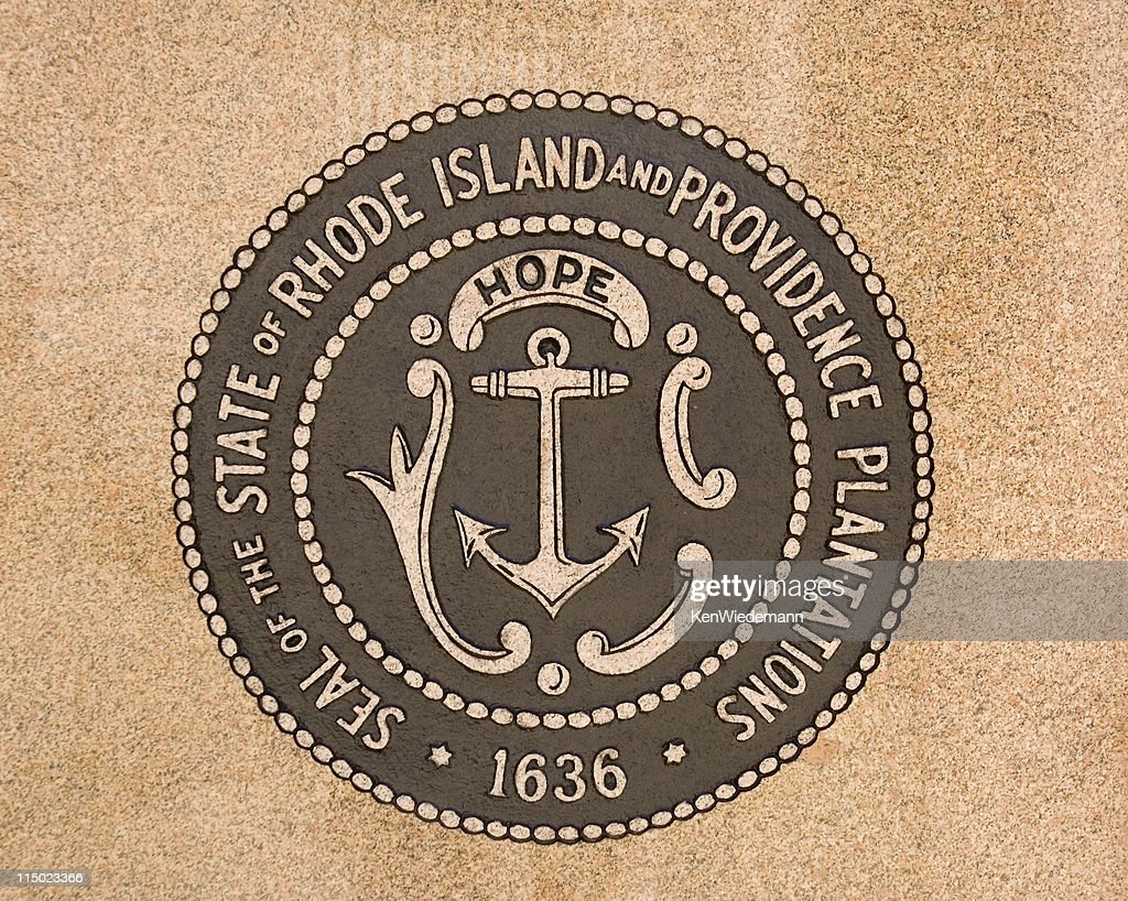 Rhode island state seal information best island to visit 2017 island state seal and flag canvas print biocorpaavc Choice Image