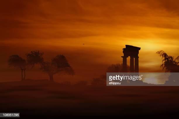 rhodes antico tempio di apollo - mitologia greca foto e immagini stock