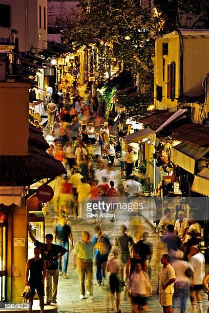Rhodes, Greece, Night Shopping