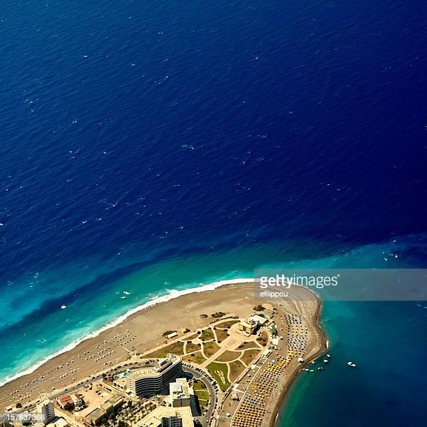 Vue aérienne de l'île de Rhodes