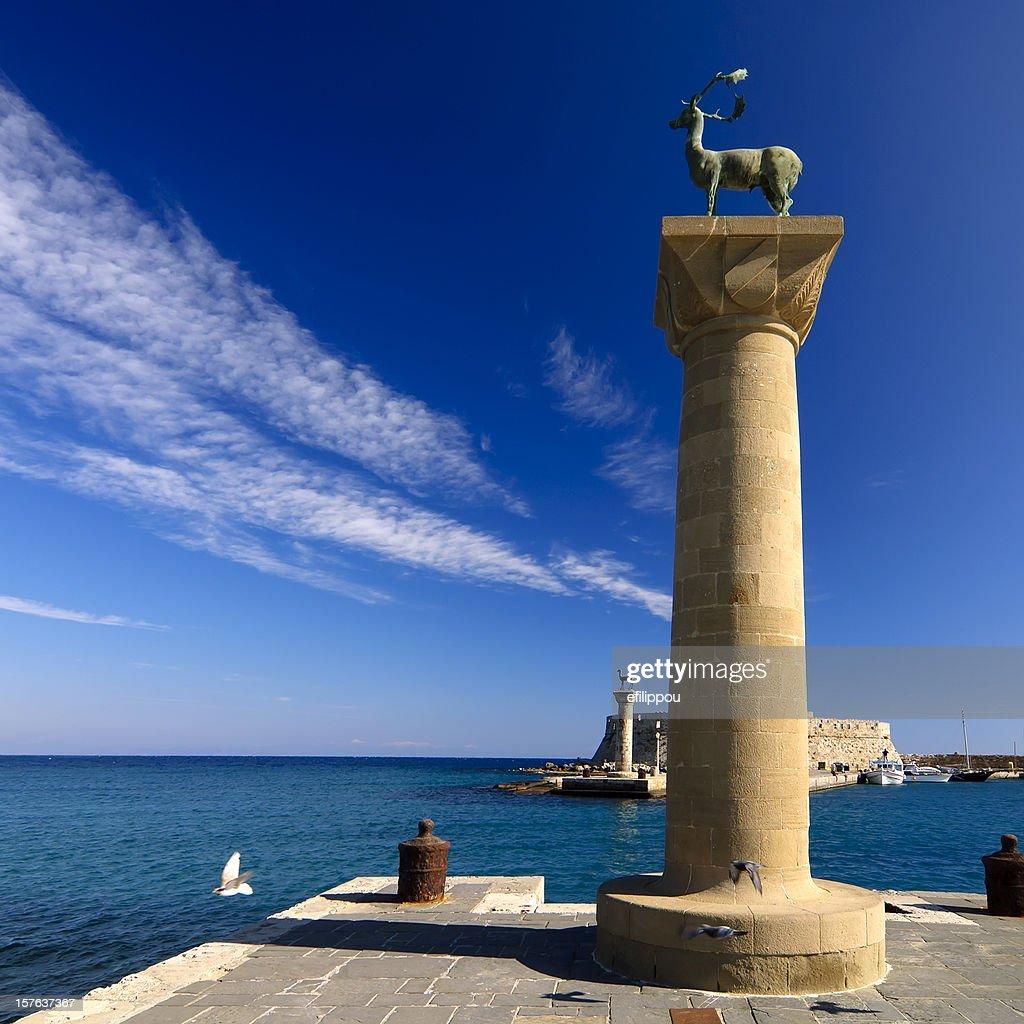 Rhodes Mandraki Port Entry : Stock Photo