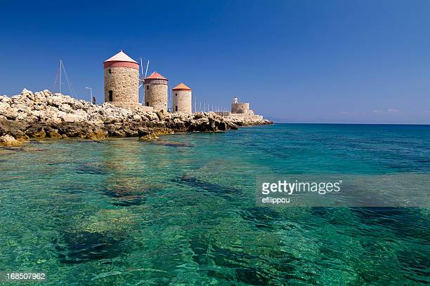 Rhodes Windmills and Lightouse fort