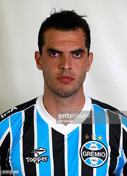Rhodolfo of Gremio FootBall Porto Alegrense poses during a portrait session on August 14 2014 in Porto AlegreBrazil
