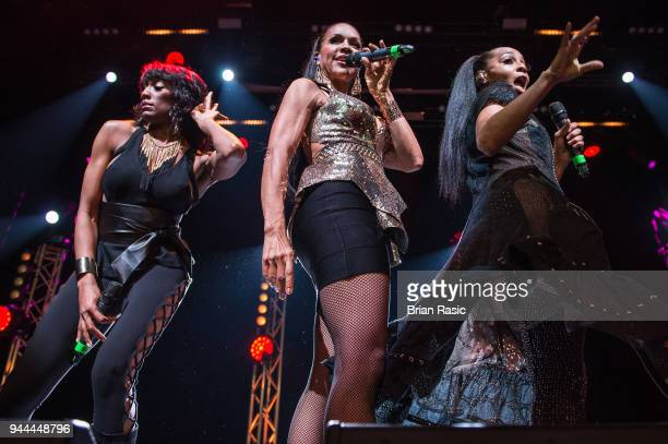 Rhona Bennett Cindy Herron and Terry Ellis of En Vogue perform live on stage at O2 Indigo on April 10 2018 in London England