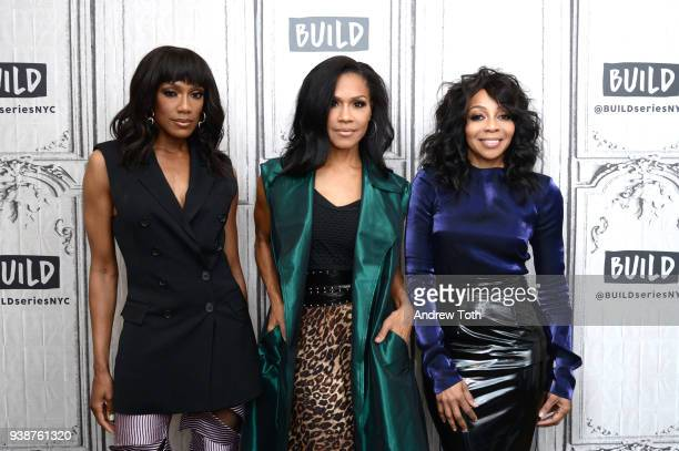 Rhona Bennett Cindy Herron and Terry Ellis of En Vogue visit Build to discuss their new album 'Electric Cafe' at Build Studio on March 27 2018 in New...