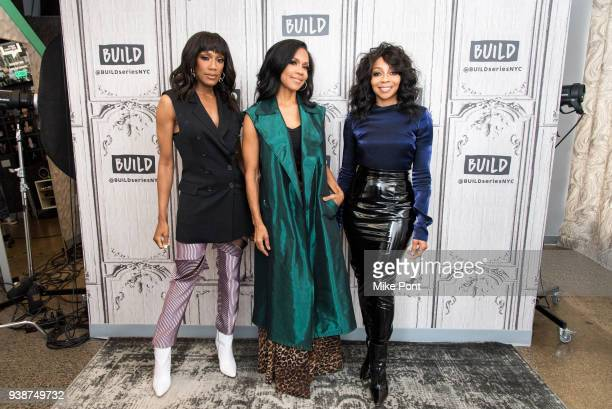 Rhona Bennett Cindy Herron and Terry Ellis of En Vouge visit Build Studio to discuss their new album Electric Cafe on March 27 2018 in New York City