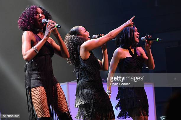 Rhona Bennett Terry Ellis and Cindy Herron of En Vogue perform onstage at Crystal Pepsi Summer of '92 at Terminal 5 on August 9 2016 in New York City