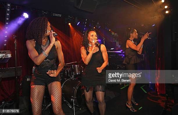Rhona Bennett Terry Ellis and Cindy Herron of En Vogue perform at The Arts Club on March 3 2016 in London England