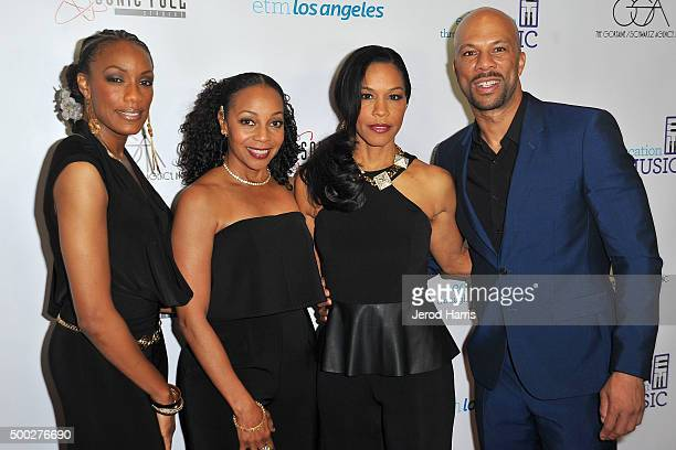 Rhona Bennett Terry Ellis Cindy Herron and Common arrive at Education Through MusicLos Angeles' 10th Anniversary Benefit Gala at Skirball Cultural...