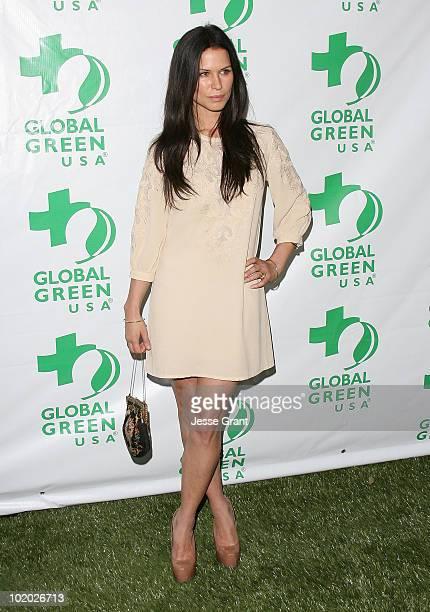 Rhona Mitra arrives at Global Green USA's 14th Annual Millennium Awards at the Fairmont Miramar Hotel on June 12 2010 in Santa Monica California