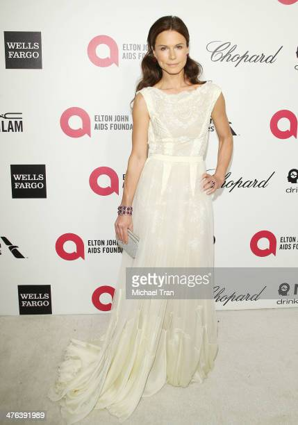 Rhona Mitra arrives at the 22nd Annual Elton John AIDS Foundation's Oscar viewing party held on March 2 2014 in West Hollywood California