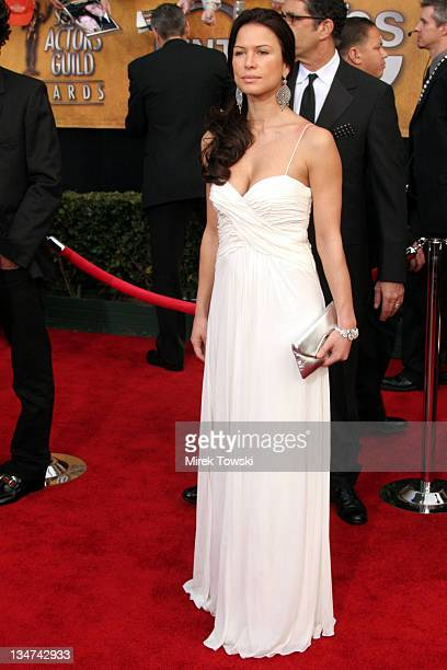 Rhona Mitra during 12th Annual Screen Actors Guild Awards - Arrivals at Shrine Expo Hall in Los Angeles, CA, United States.