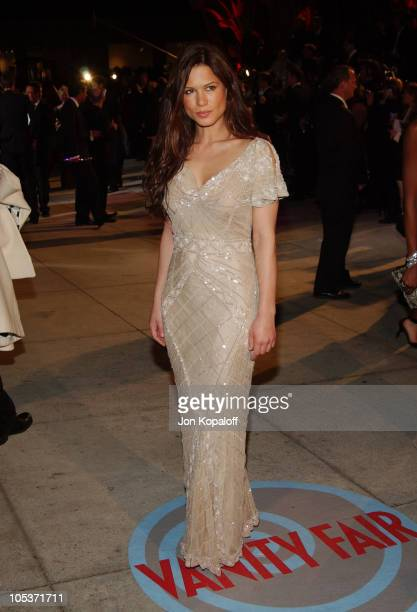 Rhona Mitra during 2004 Vanity Fair Oscar Party at Mortons in Beverly Hills, California, United States.