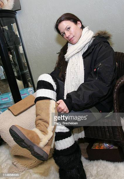 Rhona Mitra during 2006 Park City Uggs at Village at The Lift Day 3 at Village at the Lift in Park City Utah United States