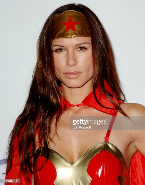 Rhona Mitra during 7th Annual Heidi Klum Halloween Party, Sponsored by M&M's Dark Chocolate - Arrivals at Privilege in Los Angeles, California,...