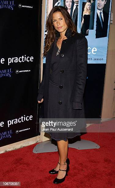 Rhona Mitra during David Kelley and The Cast of ABC's Hit Drama The Practice Celebrate The Launch of Their Eight Season at Buffalo Club in Santa...