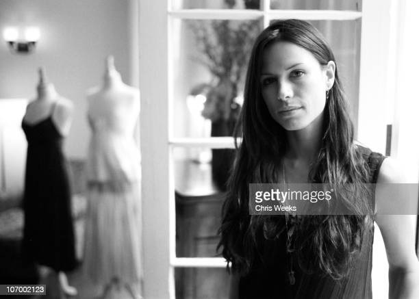 Rhona Mitra during French Connection Celebrity Styling at Chateau Marmont Black White Photography by Chris Weeks at Chateau Marmont in Hollywood...