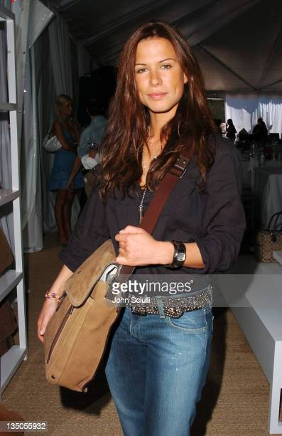 Rhona Mitra during The Coach Luncheon to Benefit Peace Games at the Home of Quincy Jones at Quincy Jones' House in Beverly Hills California United...