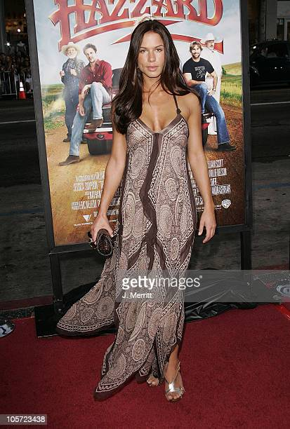 """Rhona Mitra during """"The Dukes Of Hazzard"""" Los Angeles Premiere - Arrivals at Grauman's Chinese Theatre in Hollywood, California, United States."""