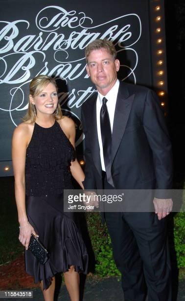Rhonda Aikman and Troy Aikman during The Barnstable Brown Party at Private Residence in Louisville KY