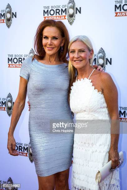 Rhonda Burchmore and Jo Hall arrive ahead of The Book of Mormon opening night at Princess Theatre on February 4 2017 in Melbourne Australia