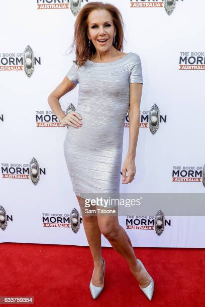 Rhonda Burchmore arrives ahead of The Book of Mormon opening night at Princess Theatre on February 4 2017 in Melbourne Australia