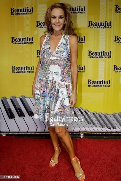 Rhonda Burchmore arrives ahead of the premiere of Beautiful The Carole King Musical at Her Majesty's Theatre on February 22 2018 in Melbourne...