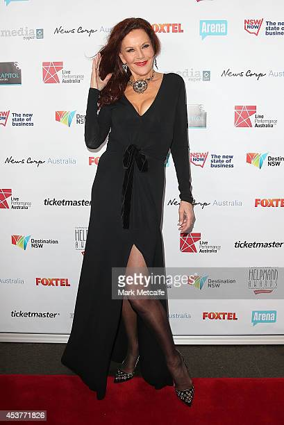 Rhonda Burchmore arrives at the 2014 Helpmann Awards at the Capitol Theatre on August 18 2014 in Sydney Australia