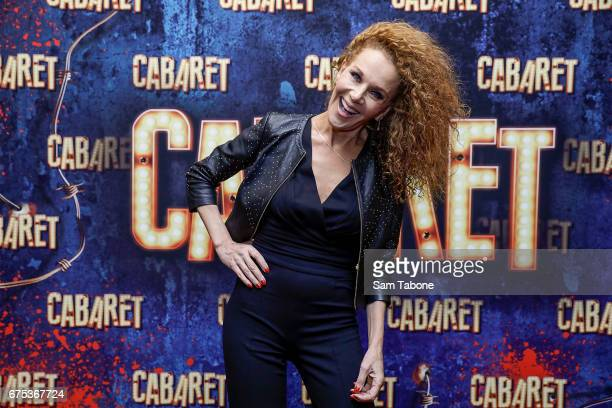 Rhonda Burchmore arrives at the opening night of'Cabaret' at The Athenatheum Theatre on May 1 2017 in Melbourne Australia