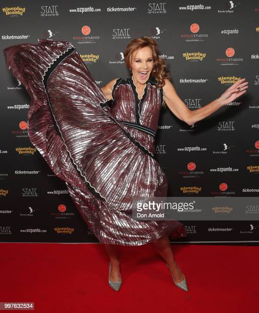 Rhonda Burchmore arrives for opening night of Sleeping Beauty A Knight Avenger's Tale at State Theatre on July 13 2018 in Sydney Australia