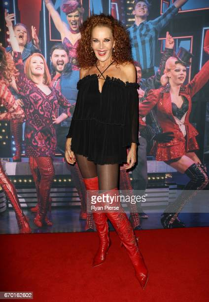 Rhonda Burchmore arrives for the opening night of Cyndi Lauper's Kinky Boots at Capitol Theatre on April 19 2017 in Sydney Australia