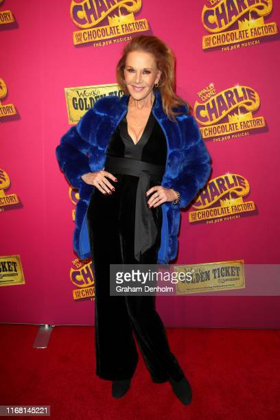 Rhonda Burchmore attends the Charlie And The Chocolate Factory Opening Night at Her Majesty's Theatre on August 15 2019 in Melbourne Australia
