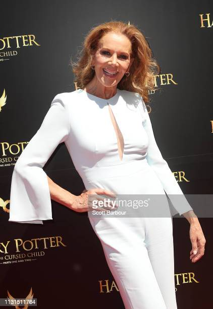 Rhonda Burchmore attends the opening night gala Harry Potter and the Cursed Child at Princess Theatre on February 23 2019 in Melbourne Australia