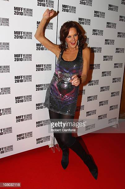 Rhonda Burchmore attends the opening night premier of The Wedding Party during the Melbourne International Film Festival at the Regent Theatre on...